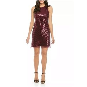 Vince Camuto Sleeveless Sequin Shift Dress